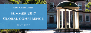 UNC Chapel Hill Summer 2017 Global Conference July 2017